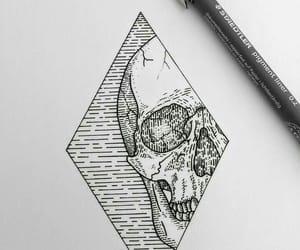 art, black ink, and design image