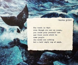poetry, quotes, and sea image