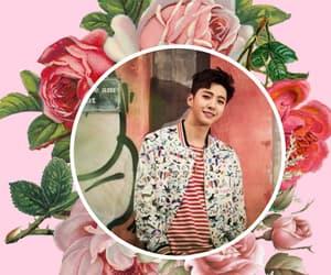 flowers, pink, and yongguk image
