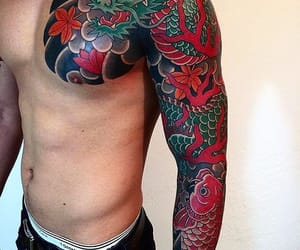 blue, dragon, and sleeve image