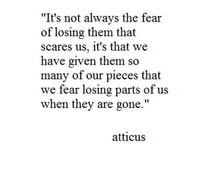 atticus, fear, and gone image