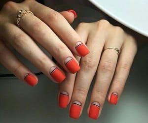 black, long, and nail art image