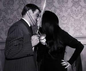 addams family, kiss, and Morticia Addams image