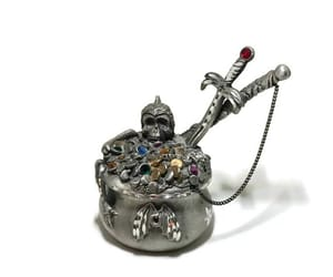 dragon lovers, pewter collectible, and vintage spoontiques image