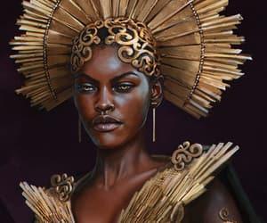 art, gold, and artwork image