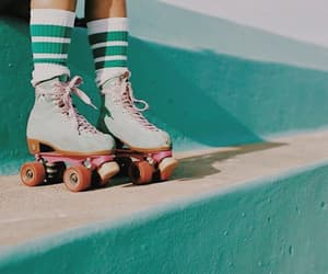 retro, roller skates, and vintage image