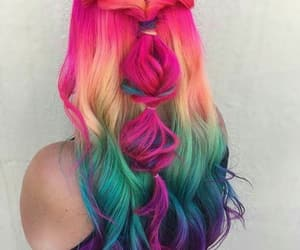 cabelo, colorful, and hair image