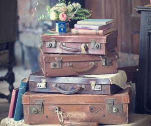 retro, suitcase, and vintage image
