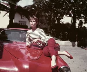 vintage, girl, and red image