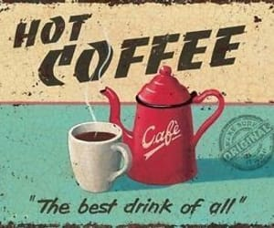 coffee, red, and vintage image