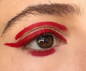 aesthetic, eye, and red image