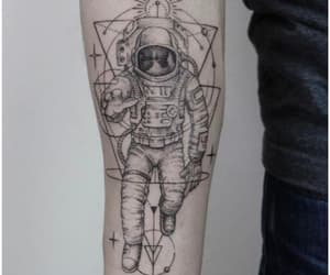 astronaut, beauty, and tattoo image