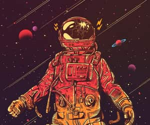 art, astronauta, and planeta image