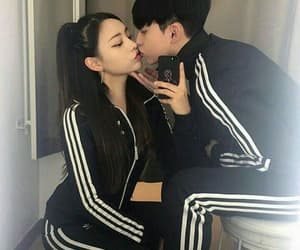 couple, asian, and love image