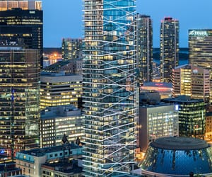 buildings, dusk, and canada image