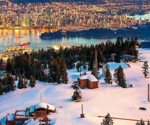 british columbia, cityscape, and snow image