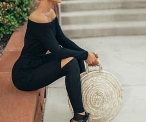 classy, girl, and jumpsuit image