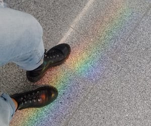 aesthetic, arcoiris, and black image