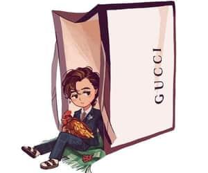 bag, bolsa, and cartoon image