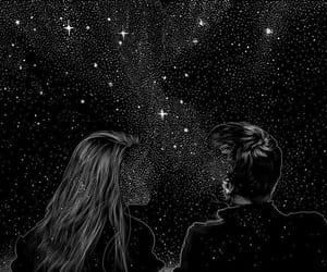 stars, couple, and art image