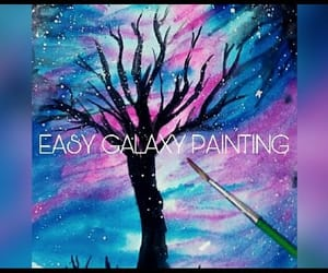 drawing, paint, and colourful tree image
