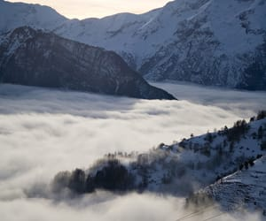fog, mountains, and nature image