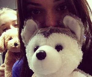 stuffed animal, kendall jenner, and selfie image