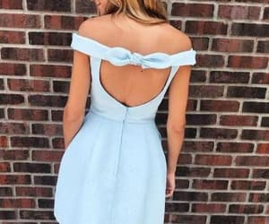 light blue dress and short homecoming dress image