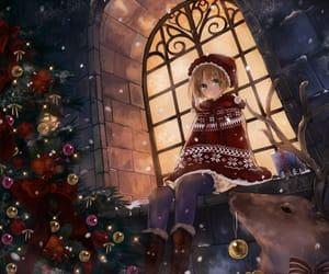 girl, anime, and christmas image
