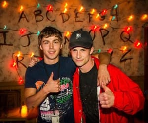 dylan minnette, miles heizer, and actor image