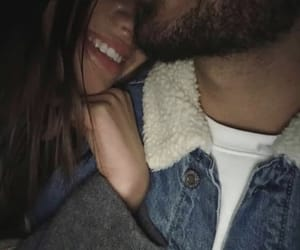 couple, smile, and amour image
