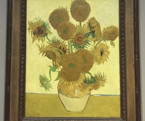 van gogh, art, and sunflowers image