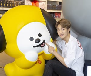 bts, jimin, and bt21 image