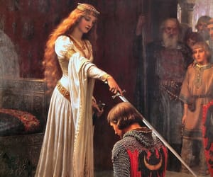 art, painting, and knight image