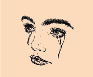 cry, crying, and draw image