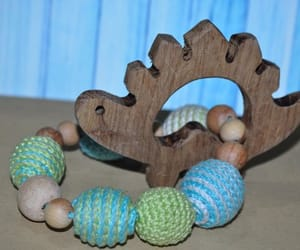 etsy, nursery, and wooden beads image