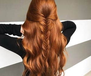 beautiful, braid, and ginger image