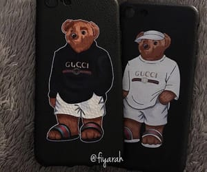 mobile phone, teddy bear, and accessories case image