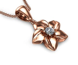 etsy, unique pendant, and rose gold necklace image