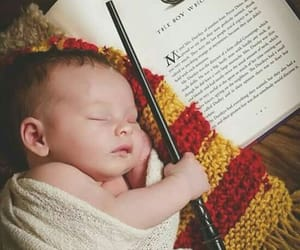 baby, harry potter, and book image