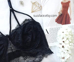 black, bra, and gifts image