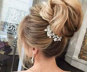 ban, chignon, and color image