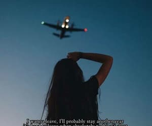 airplane, far away, and quotes image