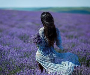 brunette, princess, and purple image