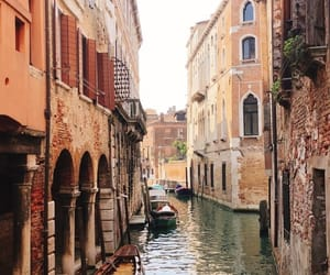 boat, italy, and river image