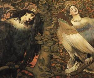 art, bird, and painting image