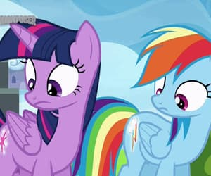cartoon, rainbow dash, and cute image