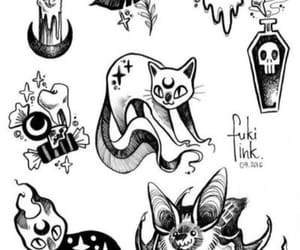 cat, draw, and candle image