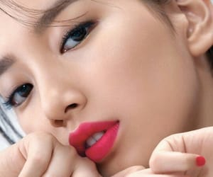 actress, beautiful, and lipstick image