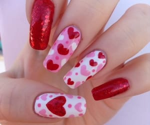 aesthetic, hearts, and red image